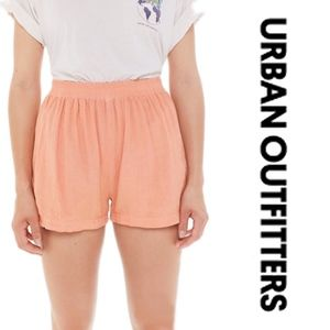 Urban Outfitters Linen Pull on Runner Shorts